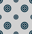 Sewing button sign Seamless pattern with geometric vector image