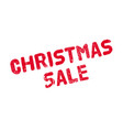 christmas sale rubber stamp vector image