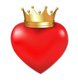 Heart In Crown vector image vector image