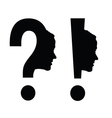 woman head with question mark vector image