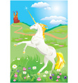 White unicorn vector image vector image