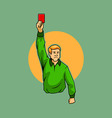 Referee Raise Red Card vector image