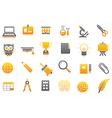 School elements gray yellow icons set vector image