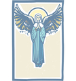 Angel Winged Virgin Mary vector image