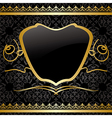 black vintage background with gold decorations vector image
