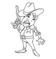 cartoon image of sheriff vector image