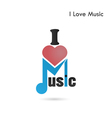Creative music note abstract logo design vector image