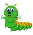 Cute caterpillar cartoon vector image
