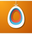 Paper egg vector image