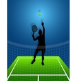 Sport background tennis man vector image