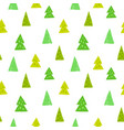spruces seamless pattern hand drawn vector image