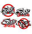 stop smoking motivation inscription health vector image