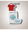 washing machine clothes detergent vector image