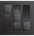 Set Vertical Black Banners New Year Christmas vector image