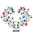flourishes with colored flowers vector image
