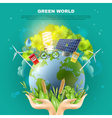 Green World Ecology Concept Composition Poster vector image