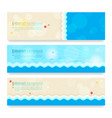 set of modern abstract background in summer beach vector image
