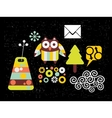 Set of images with owl vector image vector image