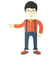 Intelligent asian guy vector image