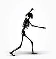 skeleton silhouette in intimidating pose vector image