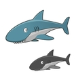 Cartoon toothy gray shark character vector image vector image