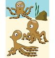 octopus under the sea vector image