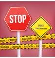 Stop Sign Website Under Construction vector image