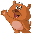 happy bear waving vector image