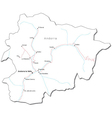Andorra Black White Map vector image