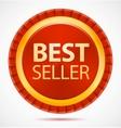 best seller red label vector image