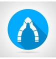 Flat round icon for arch vector image
