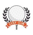 golf tournament design vector image