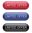Limited offer buttons vector image