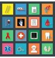 Medicine flat icons set 2 vector image