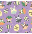 Seamless pattern with Easter eggs and bunnies vector image