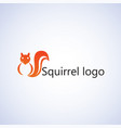 squirrel logo ideas design vector image