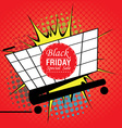 Black friday pop art vector image