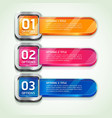 Colorful buttons website style options banner vector image vector image