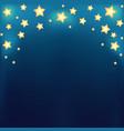 Background with shiny cartoon stars vector image