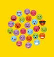 emoticons faces design vector image