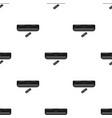 air conditioner with remote control icon in black vector image