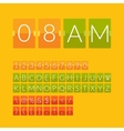 Flat countdown timer vector image