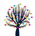 Love tree isolated over white background vector image vector image