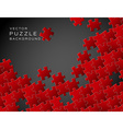 background made from red puzzle pieces vector image vector image