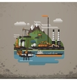 Abstract Industrial Factory Manufacture Building vector image