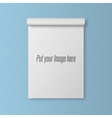 Realistic blank Template of open Notepad vector image