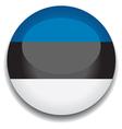 estonia flag vector image vector image