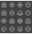 DJ labels set vector image
