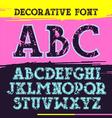 Slab serif font with contour vector image