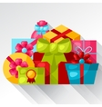Celebration background or card with colorful gift vector image